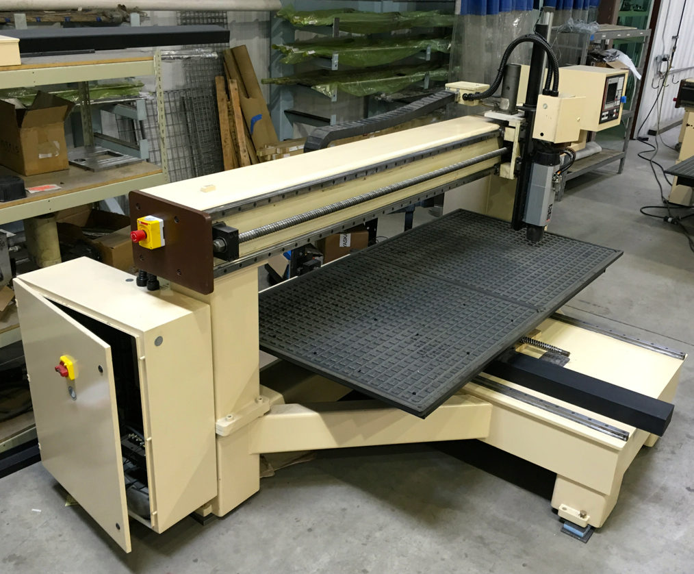 refurbished motionmaster 8 39 x4 39 3 axis cnc router c451. Black Bedroom Furniture Sets. Home Design Ideas