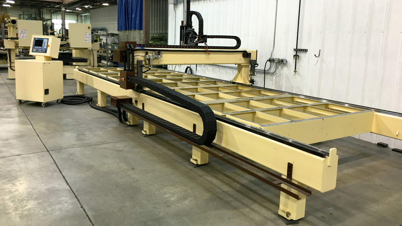refurbished motionmaster 7 39 x25 39 3 axis cnc router c453. Black Bedroom Furniture Sets. Home Design Ideas