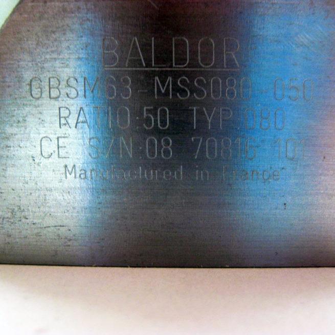 Baldor GBSM63 MSS080 50 Gearbox 222524120478 9