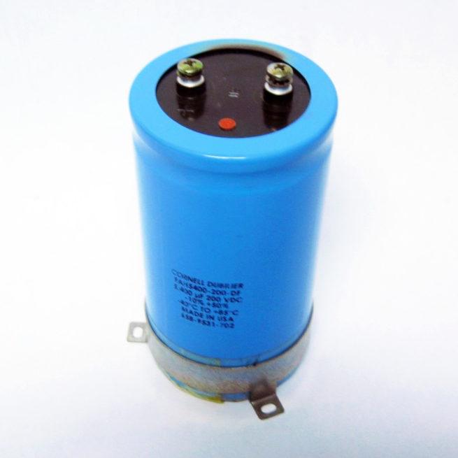 Cornell Dubilier Capacitor 5400 uf 200 VDC FAH5400 200 DF 222546141485