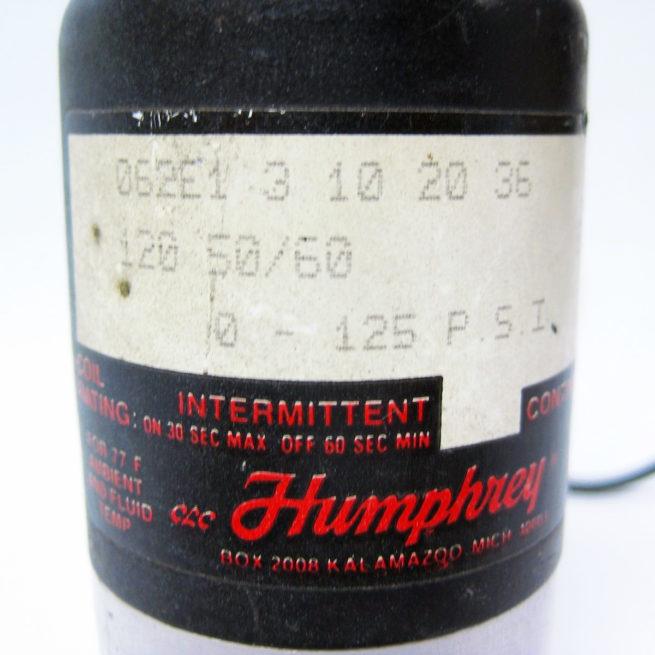 Humphrey 062E1 3 10 20 36 120 50 60 Pneumatic Solenoid 3 Way Valve 322540634167 6