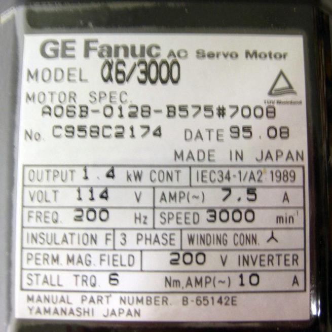 GE Fanuc a6-3000 AC Servo Motor 3