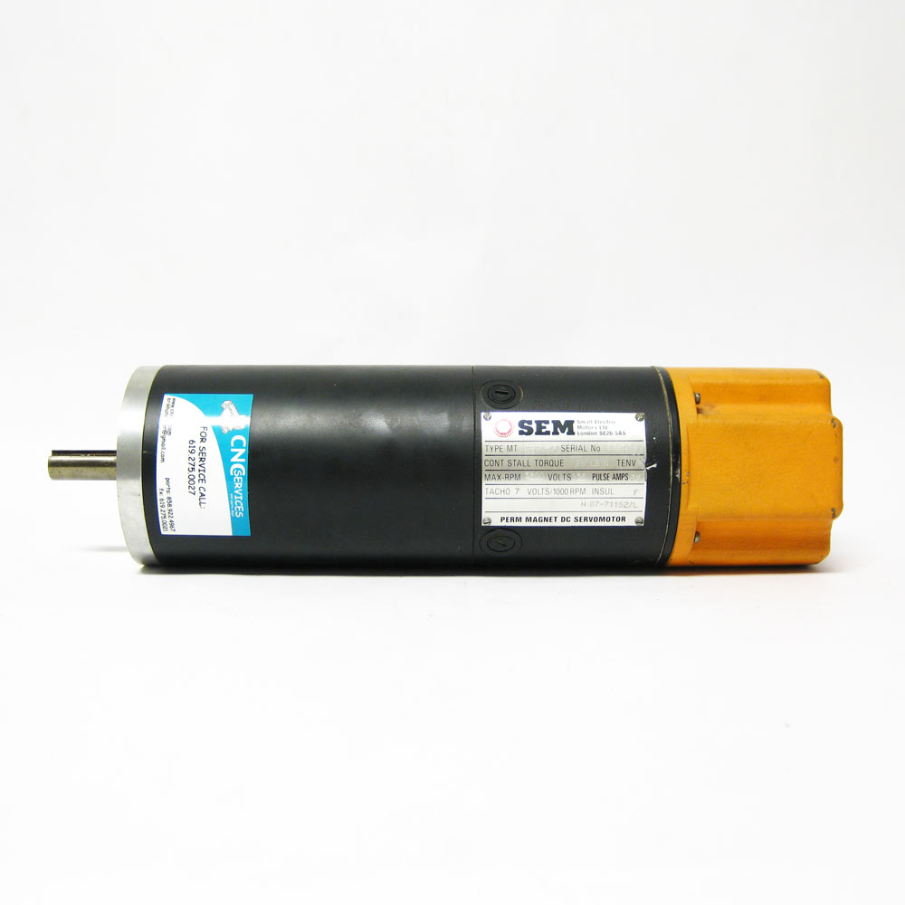 Sem mt30r4 42 dc servo motor used cnc parts dept inc for Servo motors and drives