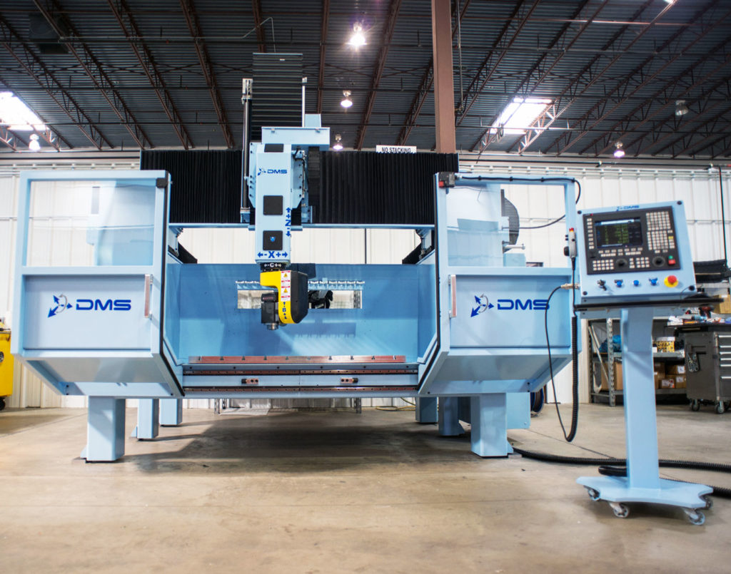 DMS 5 Axis Enclosed Overhead Gantry CNC Machine 3