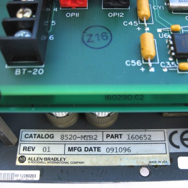 Allen Bradley 8520 MTB2 Operator Panel 222539557692 4
