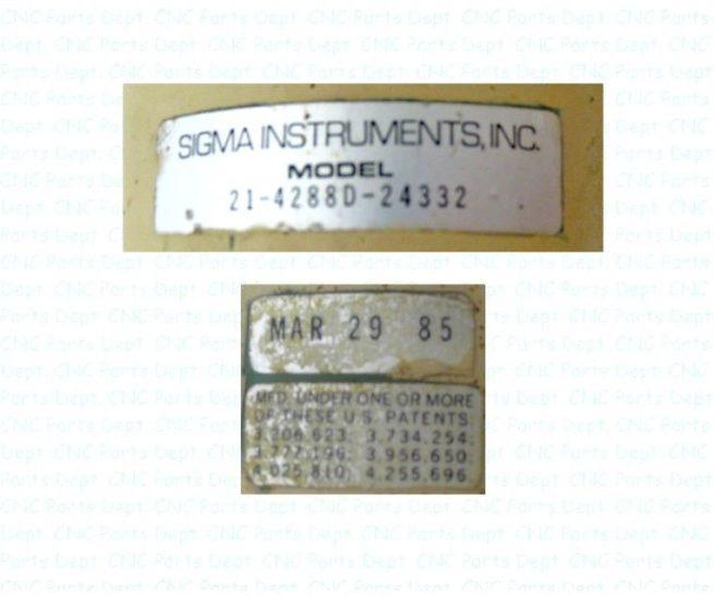Sigma Instruments 21 4288D 24332 Stepper Motor 221856234422 3
