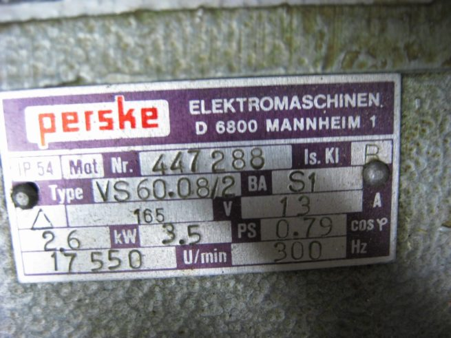Perske VS 6008 2 35hp Spindle Motor 222569138193 2