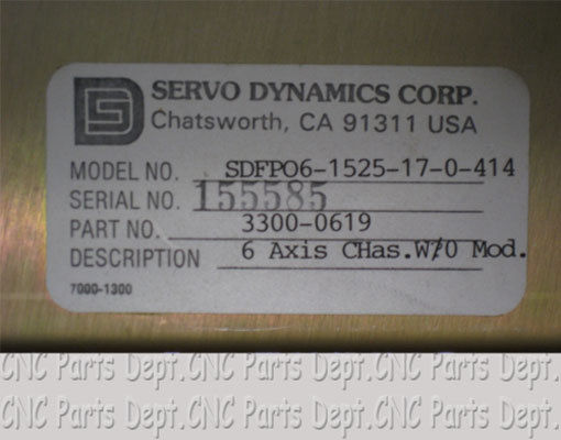 Servo Dynamics SDFPO6 1525 17 0 414 6 Axis Servo Drive Chassis 321295422375 2