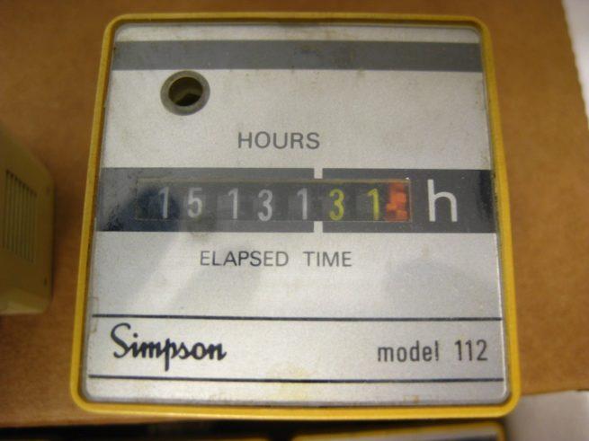 Simpson Elapsed Time Meter Model 112 322626448196 2