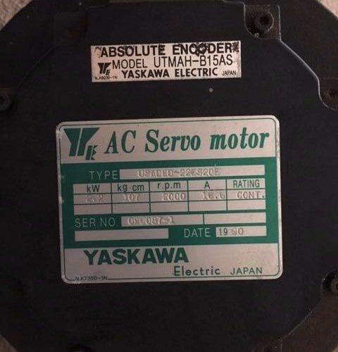 Yaskawa USADED-22ES20E AC Servo Motor