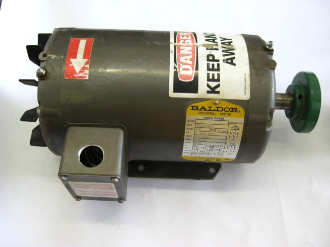 Baldor Industrial Motor 35A01T123 with Hub City Gearbox 0220 00814 150 222598957957 3