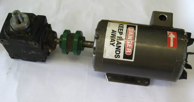 Baldor Industrial Motor 35A01T123 with Hub City Gearbox 0220 00814 150 222598957957