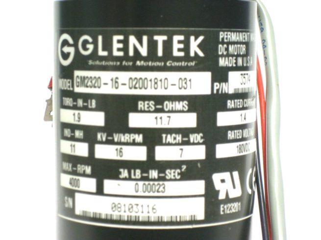 Glentek GM2320 16 02001810 03DC Servo Motor 180VDC 4000RPM 14A NEW OLD STOCK 222147840228 5