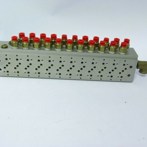 SMC 12 Position Pneumatic Manifold Block w SMC Push Fit Connectors 222556658368