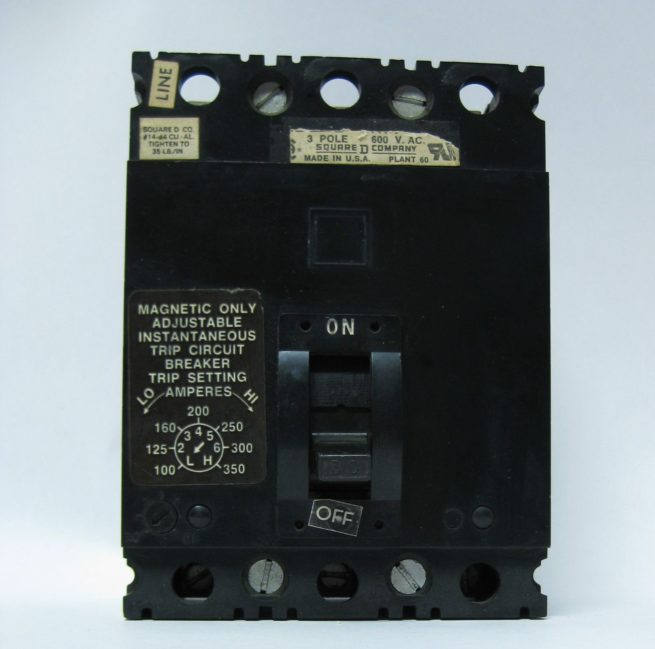 Square D Circuit Breaker 350 Amp 600 Volts Thermal Magnetic 222532776768